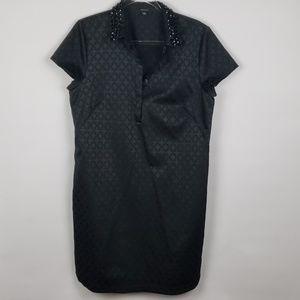 Ann Taylor black dress with studded collar